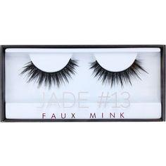 HUDA BEAUTY Huda Beauty Jade Faux Mink Lash #13 (€17) ❤ liked on Polyvore featuring beauty products, makeup, eye makeup, false eyelashes and beauty