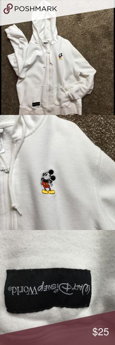 Mickey Mouse Hoodie Sweatshirt size L Authentic Walt Disney World Hoodie worn only on trip there. Walt Disney World Tops Sweatshirts & Hoodies