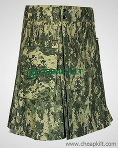 US Army Digital Camo Kilt - Camo Kilt For Men - Cheap Kilt The US Army Digital Camo Kilt has 2 detachable pockets and key hook for your keys. The tactical kilt is comfortable to wear. It can be worn for work, semi-casual occasions, and casual dress. Traditional Scottish Clothing, Tactical Kilt, Cheap Kilts, Kilt Shop, Kilt Hire, Kilts For Sale, Modern Kilts, Utility Kilt, Man Skirt