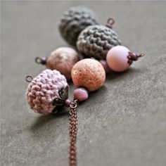 necklace with crochet beads