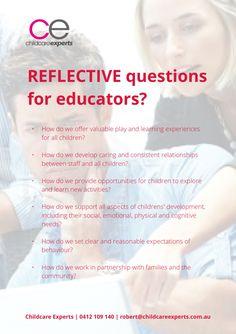 Reflective questions for educators?