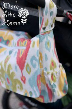 More Like Home: Stroller Friendly Diaper Bag {free pattern & tutorial}