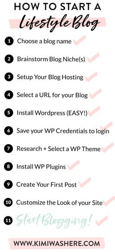 Starting a Lifestyle Blog in 2018 (An Easy Step by Step Tutorial)   Kimi Was Here Save Yourself, Create Yourself, How To Start A Blog, How To Make Money, Rock Online, Blog Names, Up And Running, Lifestyle Blog, Social Media