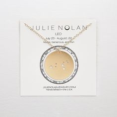Julie Nolan Constellation Necklace (31.415 CLP) ❤ liked on Polyvore featuring jewelry, necklaces, metallic, metallic jewelry, 14k necklace, letter pendants, 14k jewelry and initial pendant necklace