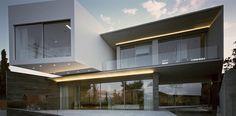 Luxueuse maison contemporaine grecque et sa piscine intérieure, #construiretendance