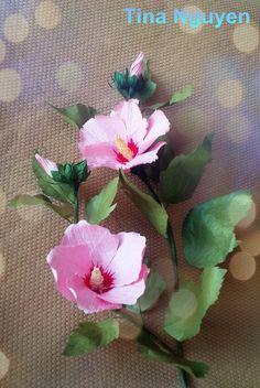 #roseofsharon #hibiscus #paper #flowers #craft #tutorial