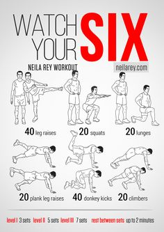 Watch Your Six Workouts by Neila Rey