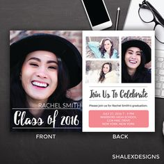 Senior Graduation Template For Photographers Psd Flat Card Gold