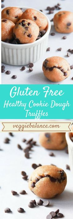 Healthy Cookie Dough Truffles {GF,Vegan, Primal} Simple delicious ingredients and so totally healthy for you.