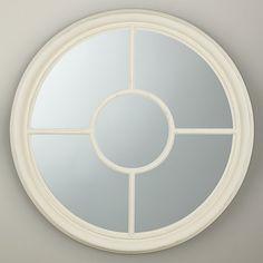 Buy John Lewis Ashbourne Mirror, Dia. 80cm, White Online at johnlewis.com