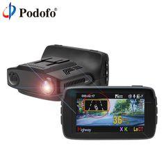 Podofo Ambarella GPS Radar Auto Detector de Radar DVR 3 en 1 FHD 1080 P Dash Cam X/K/Ka La/CT Anti Radar Dashcam BlackBox Nachtzicht #Podofo, #Ambarella, #Radar, #Auto, #Detector, #Dash, #X-K-Ka, #La-CT, #Anti, #Dashcam, #BlackBox, #Nachtzicht