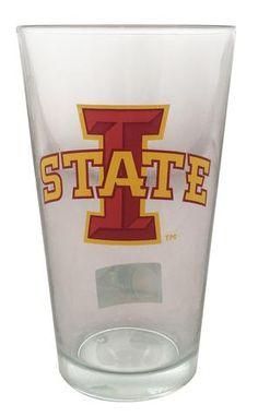 Iowa State Cyclones 16 oz Pint Glass - Big I #IowaStateCyclones