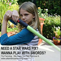 You walk by them at Wal-Mart. You play with the lightsabers whether your a kid teen or adult. You make the whooshing sounds. Need a Star Wars fix?  Now try the next best thing Fencing. Beginner classes start first week of January for ages 7-12 teens and adults.  Yes you actually get to duel.  And yes you can make the whooshing sounds too.  Try Fencing. We Dare You Not To Love It. http://aafa.me/14RmVhu #weallplayswords #starwars #lightsabers