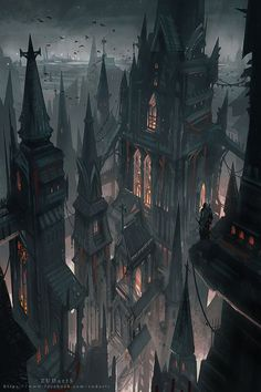 Fantasy Dark City Wallpapers) – Free Backgrounds and Wallpapers Dark Fantasy Art, Fantasy Concept Art, Fantasy City, Fantasy Castle, Fantasy Places, Fantasy Kunst, Fantasy Artwork, Fantasy World, Dark Art