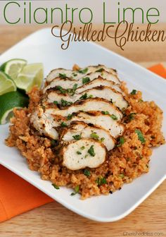 This Cilantro Lime Grilled Chicken is one of the easiest and most delicious ways to prepare grilled chicken.