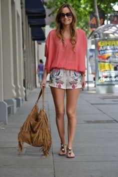 pantalón corto shorts .  Iria Fole Trendtation