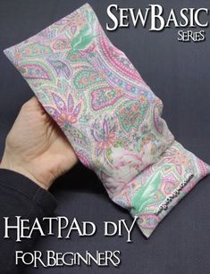 Sew Basic - Everything Fabrics Essentials - Heat Pad DIY for Beginners Pic-heavy tutorial perfect for cold winter evenings! only on SergerPepper.com