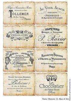 Купить или заказать Декупажные карты 'Французский винтаж' от 'Base of Art' в интернет-магазине на Ярмарке Мастеров. Декупажная карта из коллекции 'Французский винтаж'. Изысканное сочетание мягких оттенков и узнаваемо французских элементов. Старые винтажные этикетки для декупажа. Еще больший выбор на нашем фирменном сайте.