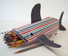 Pencil case shark