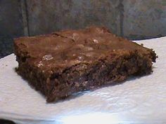 """1950""""s Brownie Recipe This is the recipe we used in Home Economics in the l950's. It's very moist and chewy, a super rich brownie."""