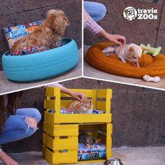 DIY pet beds DIY camitas para mascotas Dog clothes DIY camitas for dogs Jar Crafts, Bottle Crafts, Diy And Crafts, Diy Dog Bed, Pet Beds Diy, Diy Hanging Shelves, Mason Jar Diy, Diy Stuffed Animals, Diy Projects