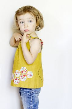 little bee pinafore by Girl Like The Sea, via Flickr