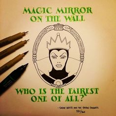 """30 de 32   """"Espelho meu, espelho meu, há alguém mais bela do que eu?"""", Branca de Neve e os Sete Anões. Ian Simmons"""
