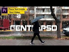 Premiere pro Tutorial : How to Place Text inside your video 2018* - YouTube