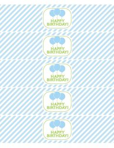 free printables boy birthday water bottle labels green blue