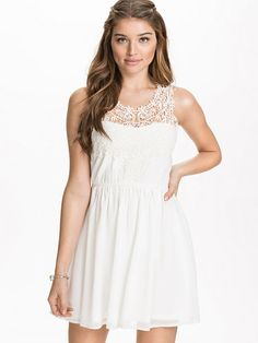 Lace Chest Dress - Nly Blush - Offwhite - Party Dresses - Clothing - Women - Nelly.com