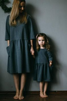 Mother daughter matching dress Mother and daughter matching outfit Mini me Girl jersey dress Girl oversized dress Dress with pockets - Tiny Bunny Etsy. Mother and daughter matching outfit – matching oversize dresses with pockets for - Mother Daughter Dresses Matching, Mothers Dresses, Mommy And Me Outfits, Girl Outfits, Little Girl Fashion, Kids Fashion, Cute Dresses, Girls Dresses, Mini Dresses
