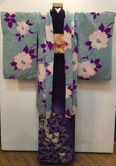 本日より!水色ピンク花羽織・ポップ銘仙着物♪販売商品23 : 着物のいろは行商日記3
