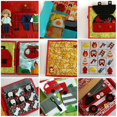 Fire station Quiet Busy book Custom 4-12 pages by TomToy on Etsy