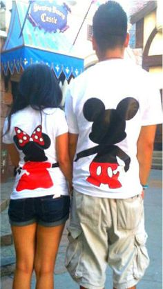 Free Two Day Shipping For US Mickey and Minnie Mouse Couples T-Shirts