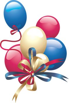 This high quality free PNG image without any background is about balloon, rubber balloon, latex balloon, red, blue and pink. Happy Birthday Clip Art, Birthday Clips, Happy Birthday Son, Birthday Wishes Funny, Happy Birthday Pictures, Birthday Greetings, Colorful Pictures, Happy Anniversary Husband, Party