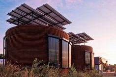solar powered silo house