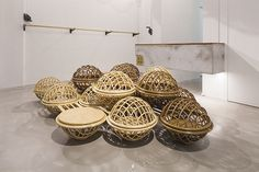 studio SKLIM develops rattan clouds for singapore storefront