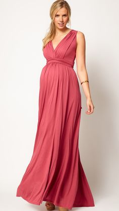 Grecian maternity dress / asos