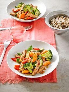 Puten-Gemüse-Wok