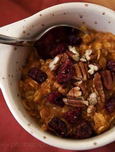 Pumpkin pie oatmeal (7 things to do with pumpkin guts)
