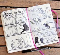 "Bookshelf Stencil - Bullet Journal Stencil, fits Leuchtturm and Moleskine 5"" by 7"""