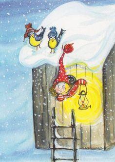 Virpi Pekkala, Finland Christmas Illustration, Cute Illustration, All Things Christmas, Christmas Crafts, Baumgarten, Advent Calenders, Doodle Drawings, Whimsical Art, Vintage Cards