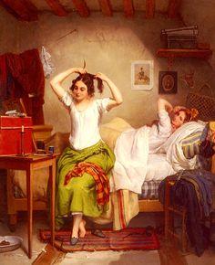 Jean Augustin Franquelin (1798-1839) In The Bedroom