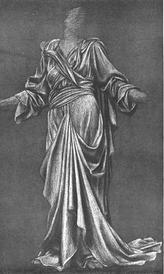 EVELYN DE MORGAN Drapery study