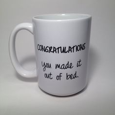 Personalized Coffee Mug Custom Gift by SincerelyMaryEllen on Etsy, $12.00 --HAHA, lovin' this message choice