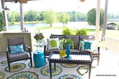 Back porch refreshed & more amazing ideas!  Refresh Restyle's top 2013 DIY projects.  Wow.