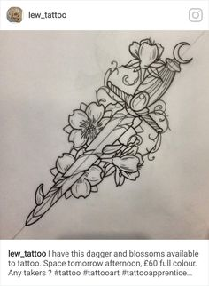 Neue Tattoos, Body Art Tattoos, Sleeve Tattoos, Cool Tattoos, Tattoo Design Drawings, Tattoo Sketches, Tattoo Designs, Daggar Tattoo, Espada Tattoo