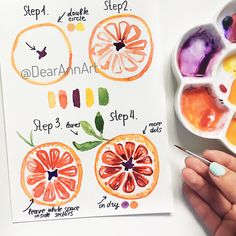40 Juicy Citrus Bullet Journal Theme Ideas My inner creative - Cool Crafts Watercolor Drawing, Painting & Drawing, Easy Watercolor, Watercolor Beginner, Painting Inspiration, Art Inspo, Fruit Sketch, Bullet Journal Themes, Watercolour Tutorials