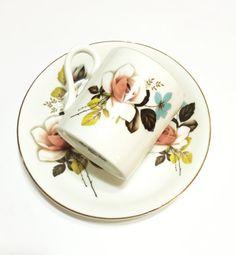 Bone China Demitasse Set Royal Grafton by GracesVintageGarden ~ETS #floraldemitasse #vogueteam #etsygifts
