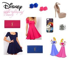 """""""Disney - The Sleeping Beauty - Princess Aurora"""" by pesca8 ❤ liked on Polyvore featuring Disney, ASOS, Steve Madden and Yves Saint Laurent"""